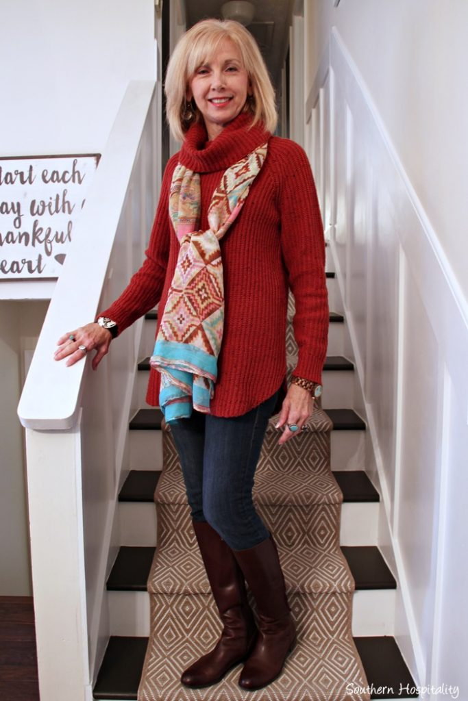 Fashion Over 50 Boots And Sweaters Southern Hospitality