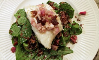 Seared Cod with Blue Apron