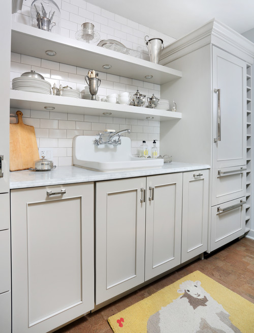 White Kitchen Open Shelves