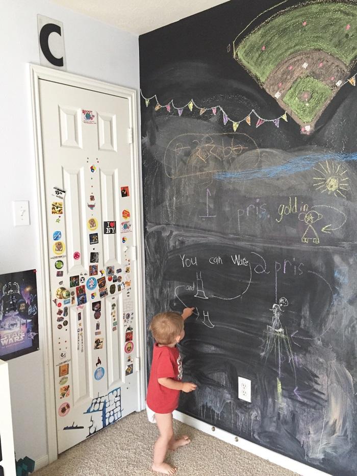 boys room chalkboard