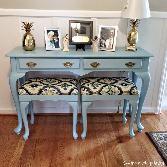 painted console table. Black Bedroom Furniture Sets. Home Design Ideas