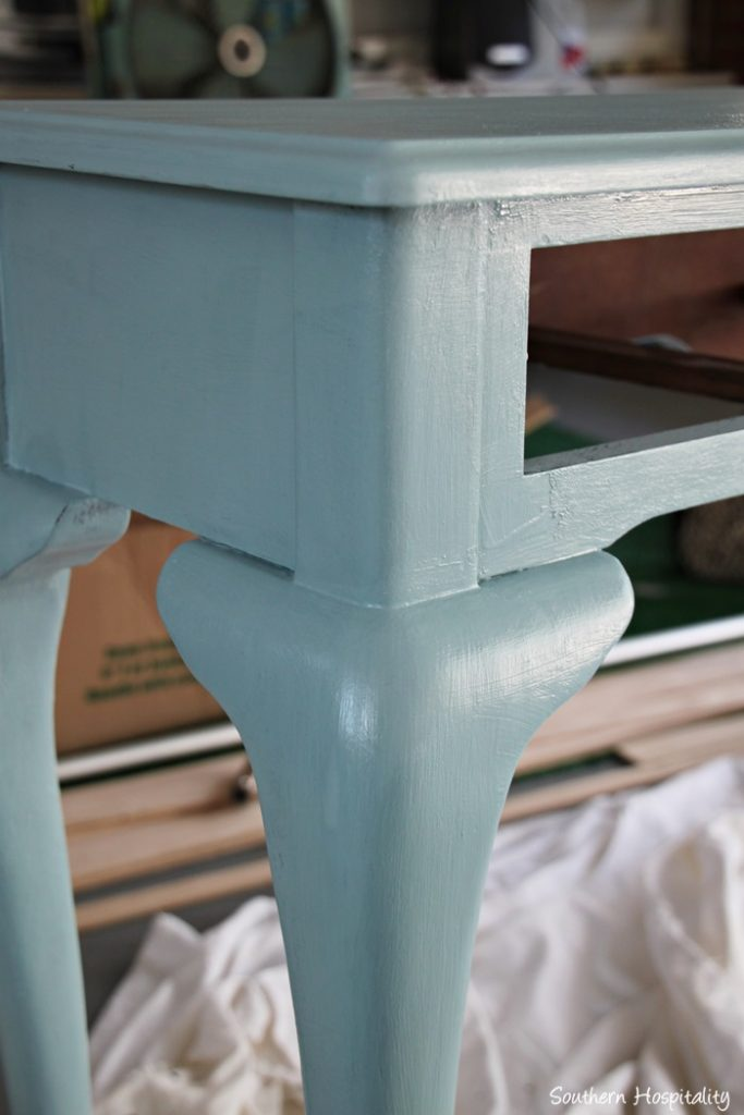 Painted console table - Table console blanche ...