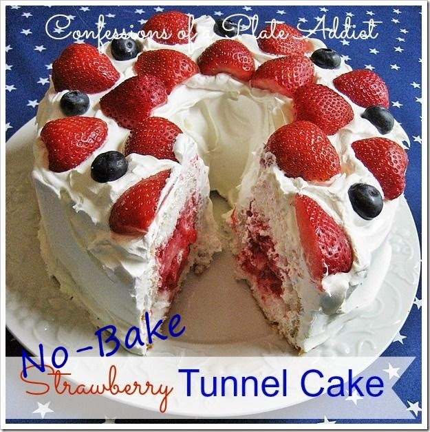 CONFESSIONS OF A PLATE ADDICT Easy No-Bake Strawberry Tunnel Cake