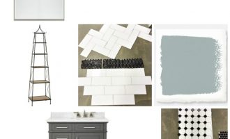 Master Bath Update Plans in Black and White!