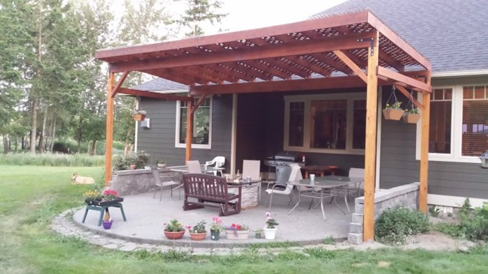 Simple Carrie with Kenarry shares how to build a covered patio and her backyard is better for it Pergolas are amazing
