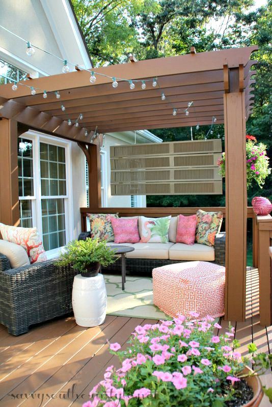 35 inspiring outdoor spaces porches decks patios - Outdoor room ideas pinterest ...
