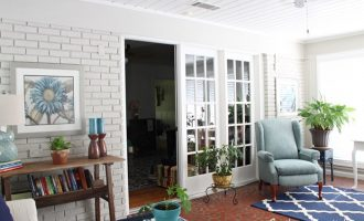 Sunroom Makeover:  1950's Ranch House
