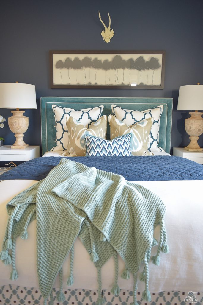 Transitional-navy-and-aqua-bed-room-11