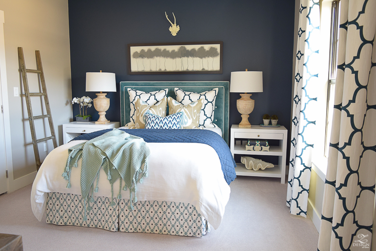 Transitional-navy-and-aqua-bed-room-2