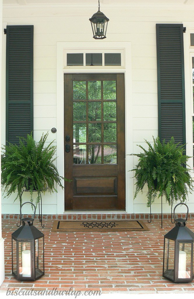 southern front doorsFeature Friday Biscuits and Burlap  Southern Hospitality