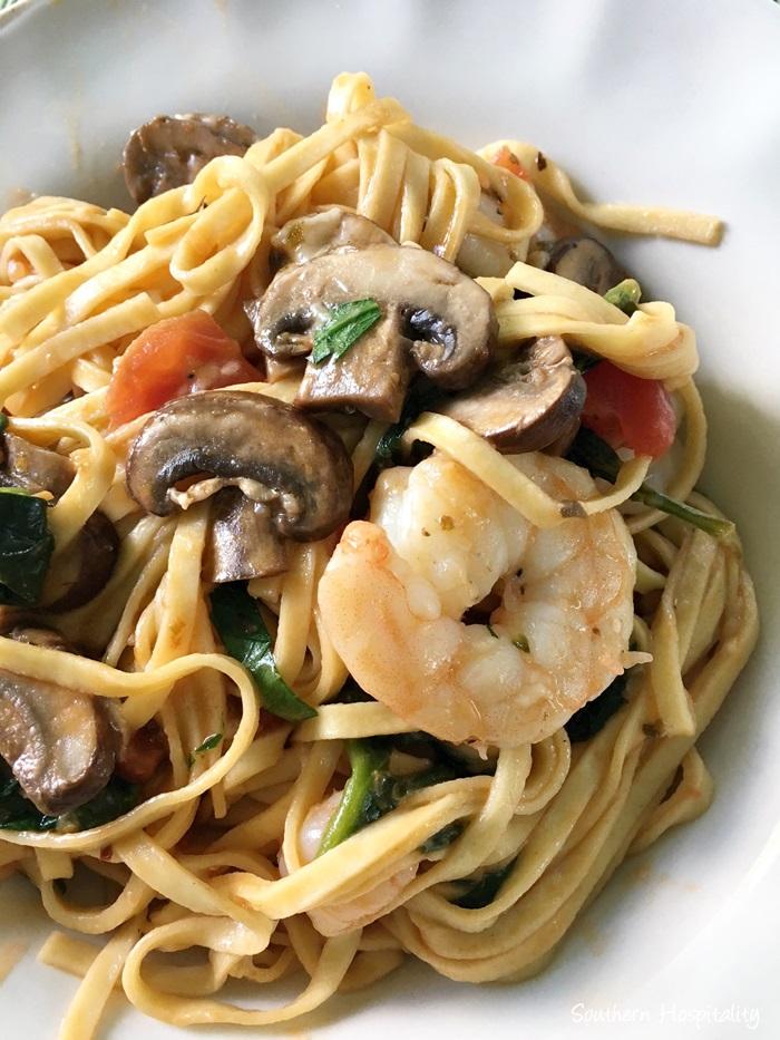 lemon garlic shrimp pasta008