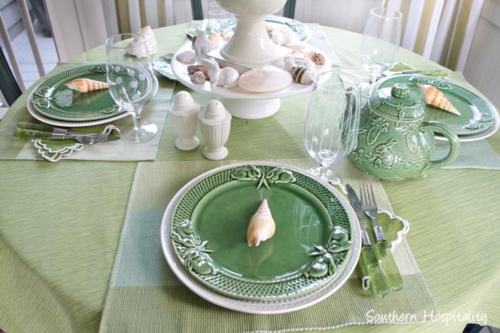summer table green004