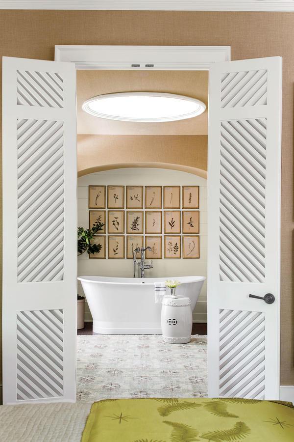 master bath looking through doors in bedroom