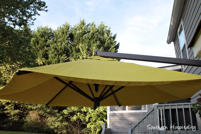 outdoor patio space with umbrella002