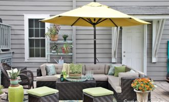 Umbrella Addition to the Patio