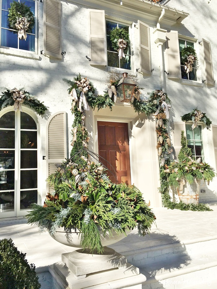 Atlanta 2016 showhouse home for the holidays white brick French Country home