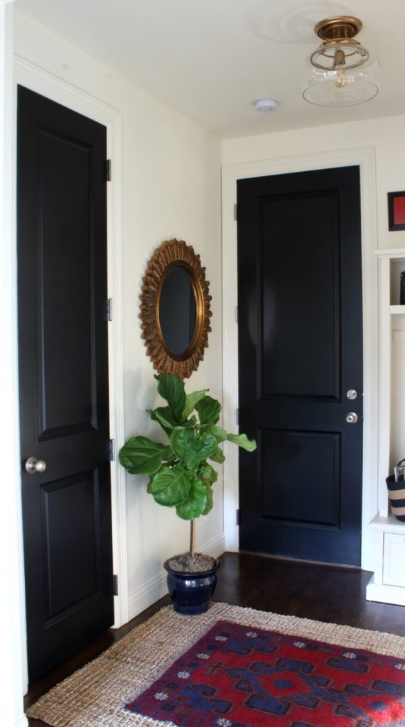black-doors-with-mirror