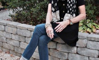Fashion over 50:  Black Top and Jeans