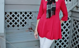 Fashion over 50 and 60:  Red Top for Christmas