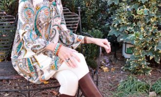 Fashion over 50:  Boho Top and Boots