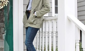 Fashion over 50:  Olive Green Jacket