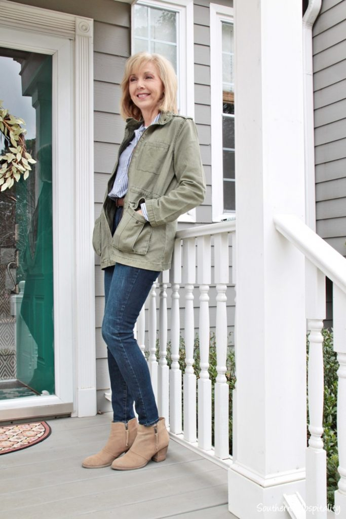 Fashion Over 50 Olive Green Jacket Southern Hospitality