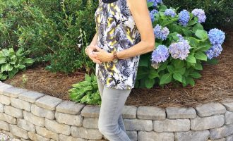 Fashion over 50:  Casual Gray Skinnies and Top