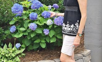 Fashion over 50:  Casual Shorts and Top