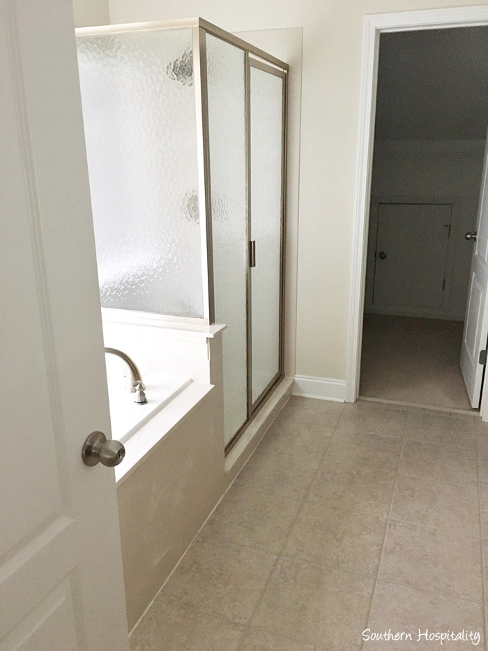 Stunning Master bathroom It us nice and clean but very plain so we want to add lots of decorative touches in here too That shower is all one unit posite