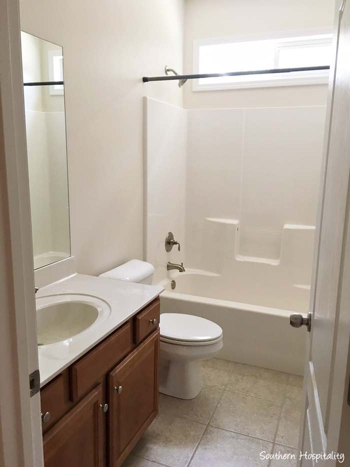New Downstairs bathroom behind the den area