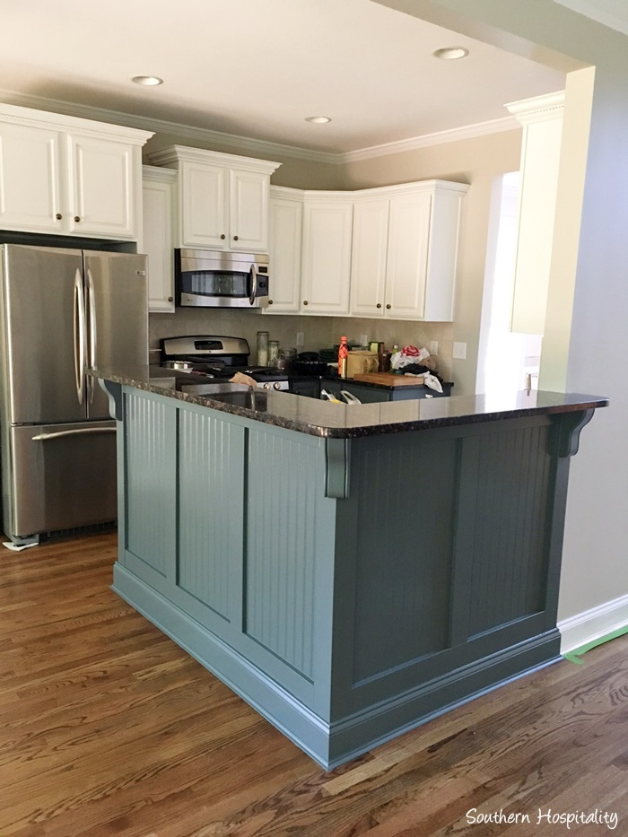 Marvelous It us exactly like we pictured it would look and we couldn ut be happier The color of the bar and lower cabinets is Benjamin Moore Knoxville Gray
