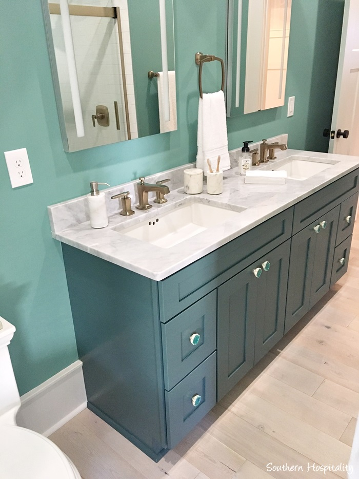 Bathroom Cabinets Knoxville Tn. Vanity Raging Sea Sherwin Williams