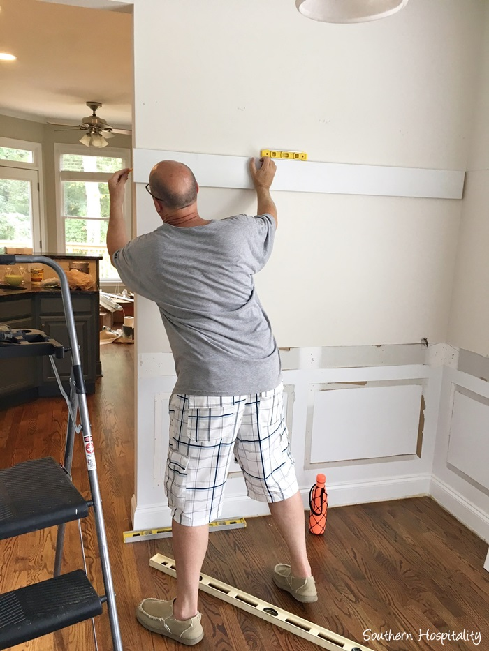 After All The Top Boards Were Installed, He Started Adding The MDF Beadboard  Panels.
