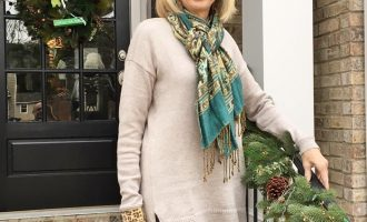 Fashion over 50:  Long Sweater and Boots