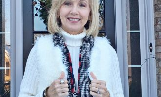 Fashion over 50:  Snow and Furry Vests