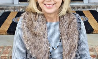 Fashion over 50:  Leopard Vest on Repeat
