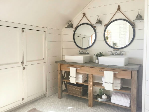 And Yet Another Farmhouse Inspired Bathroom From On Main As Youve Probably Noticed Style Is Still Trending For The Last Few Years
