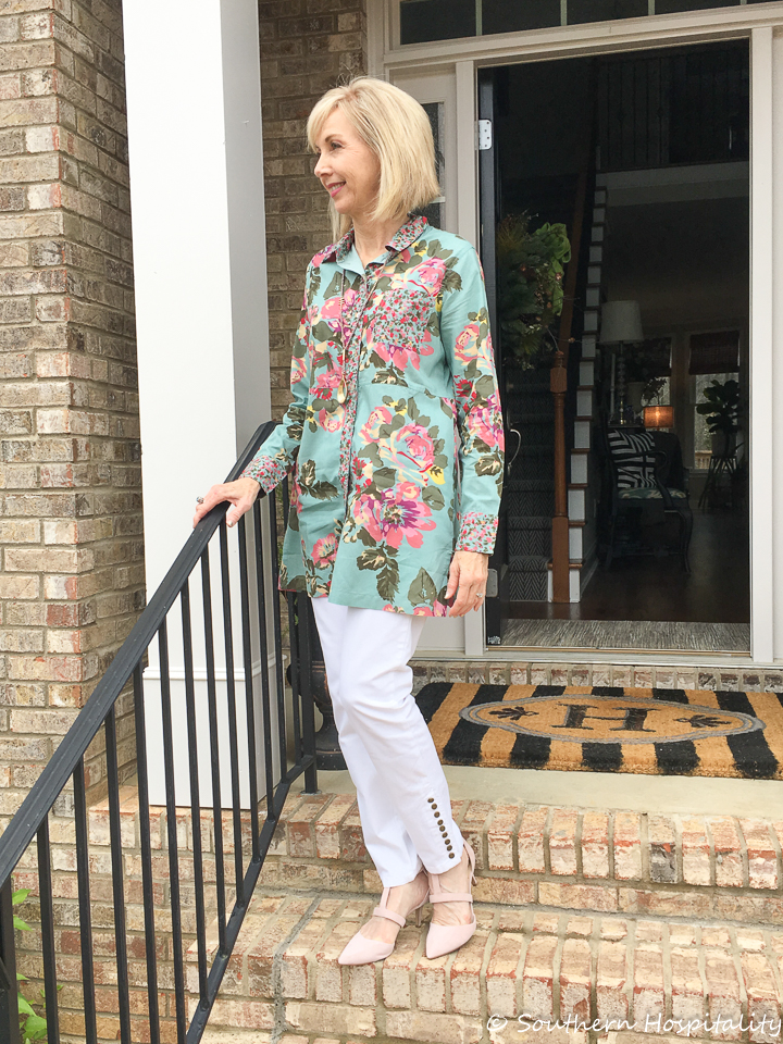 Fashion Over 50 Floral For Easter Southern Hospitality