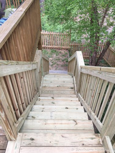 Adding Stairs To A Deck Southern Hospitality