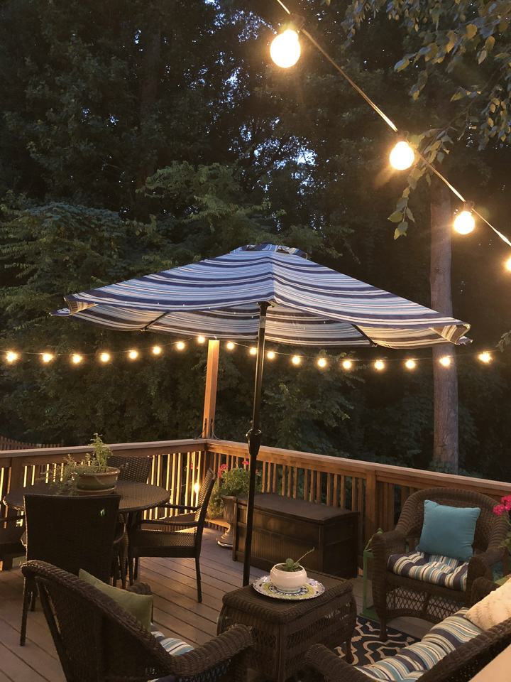 Adding Patio String Lights To The Deck Southern Hospitality