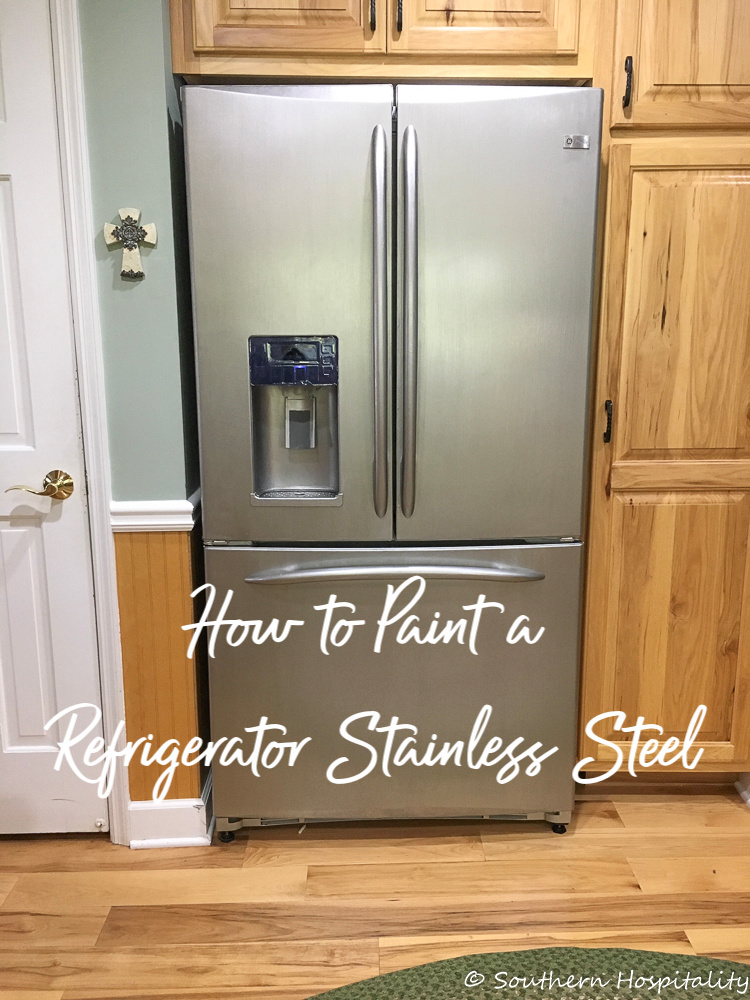 How to Paint a White Refrigerator Stainless Steel