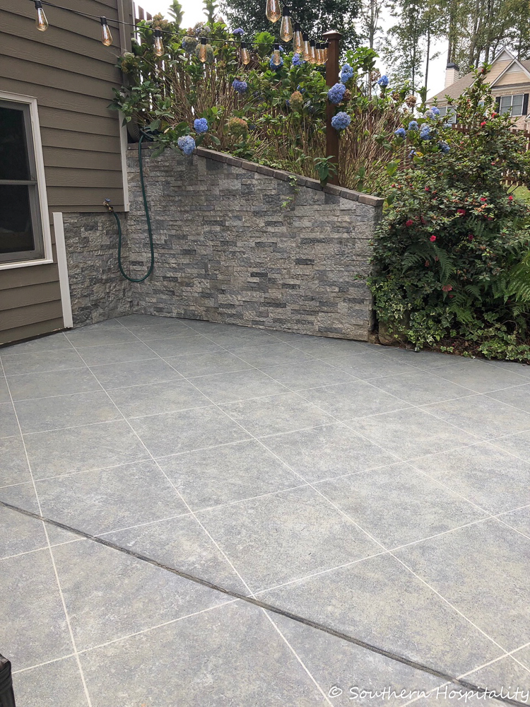 Faux Tile Look On Concrete Patio