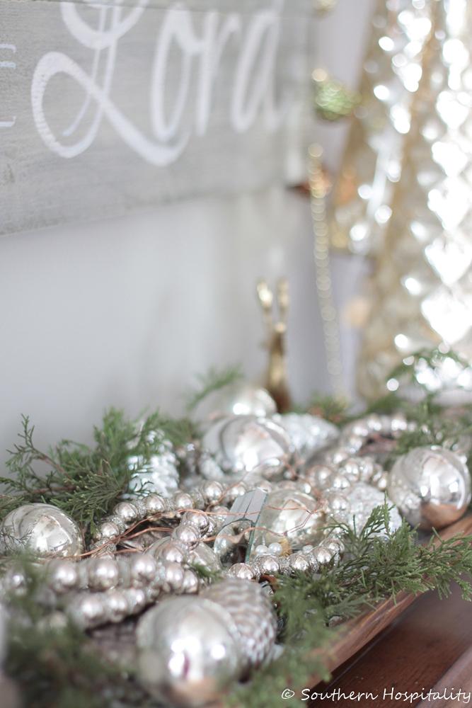Christmas mercury glass