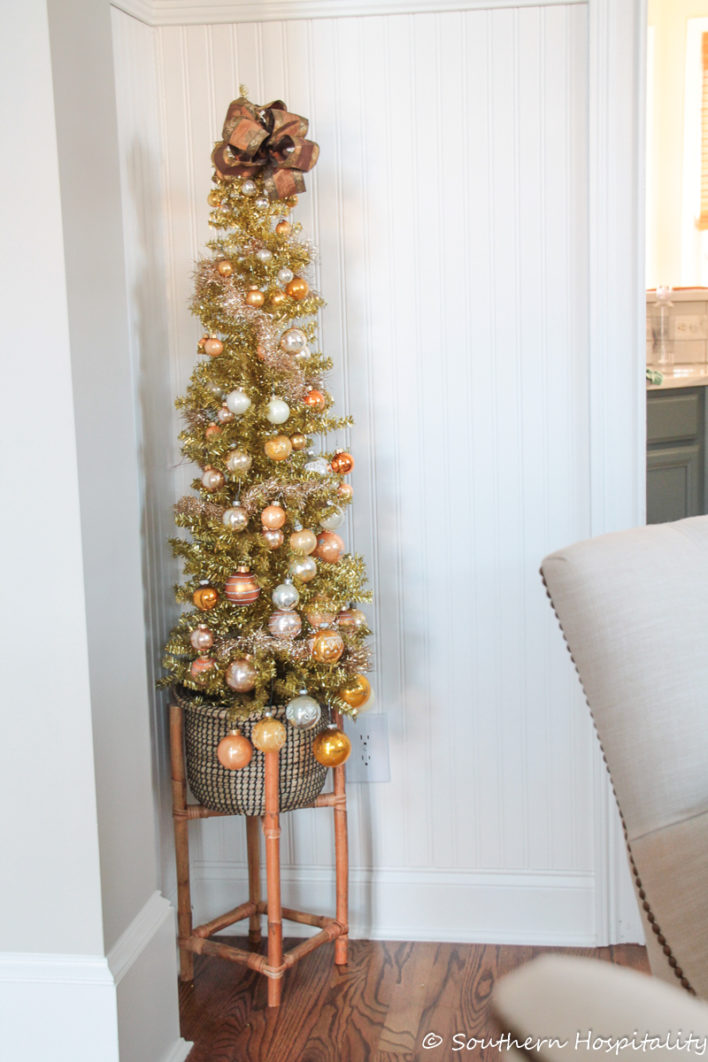gold vintage christmas tree