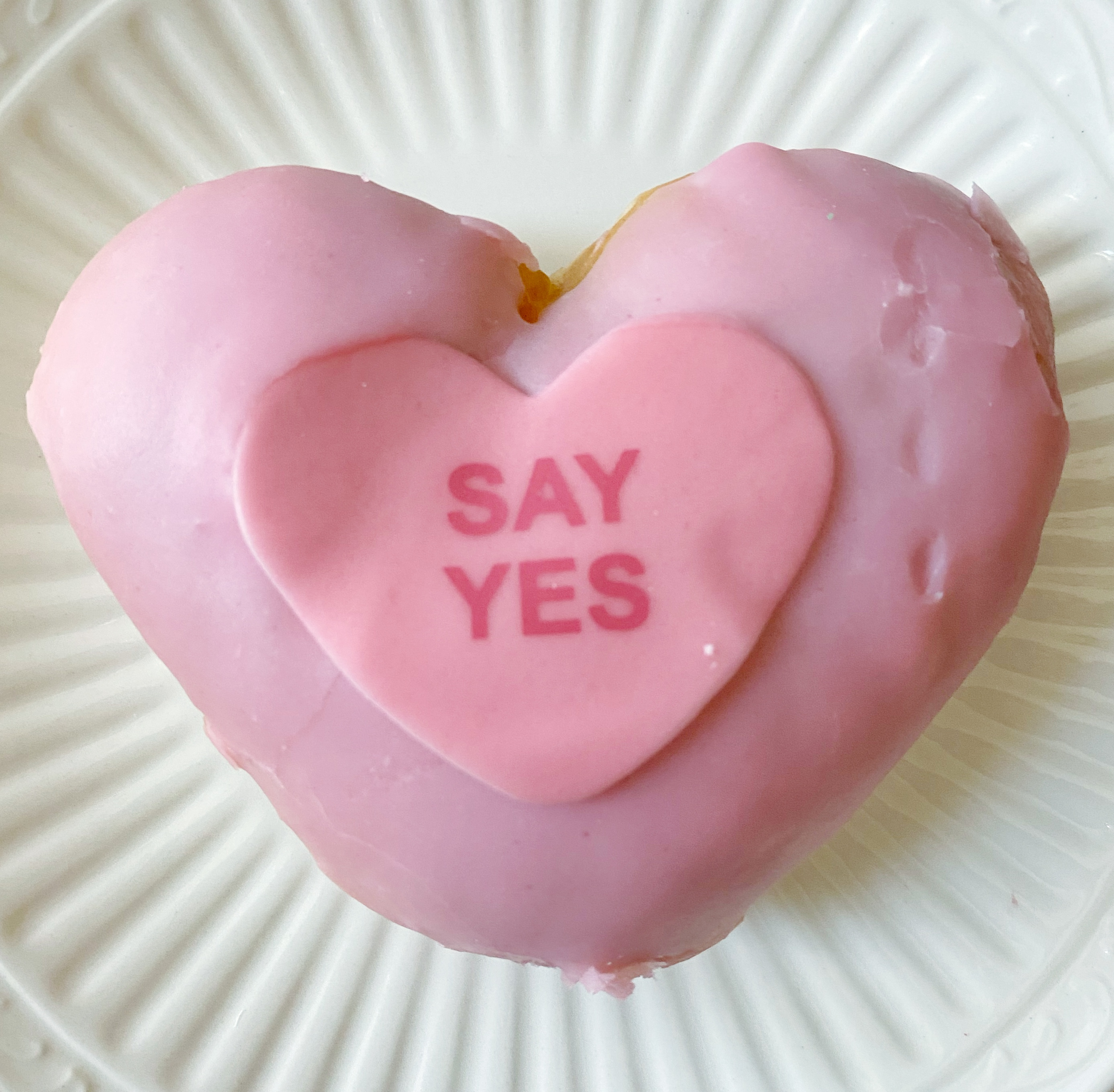 Say Yes Pink Donut