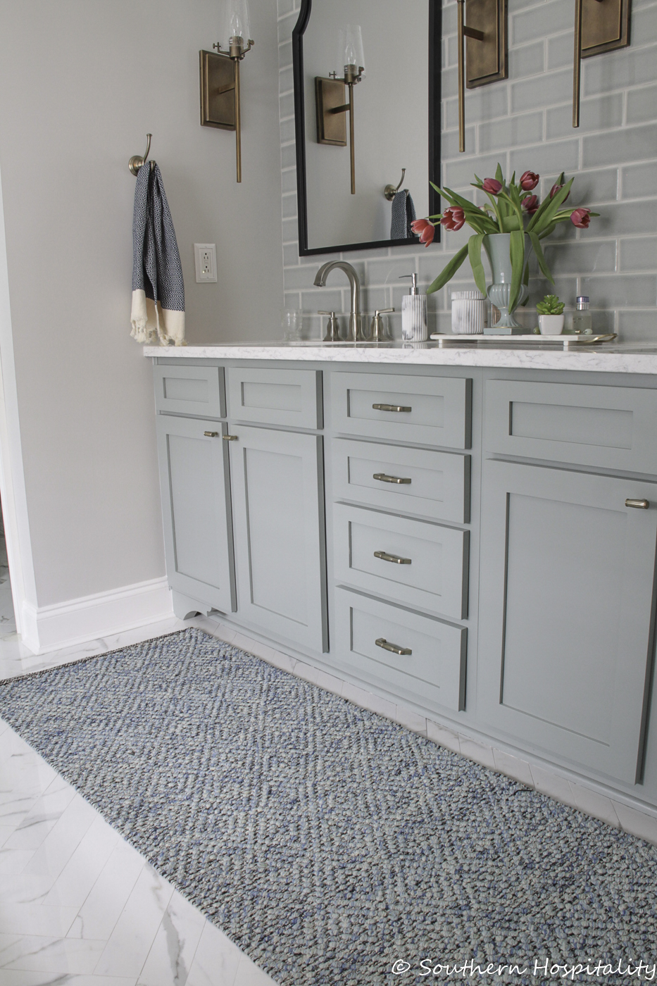 How To Update An Old Vanity With New Drawers Doors And Paint Southern Hospitality