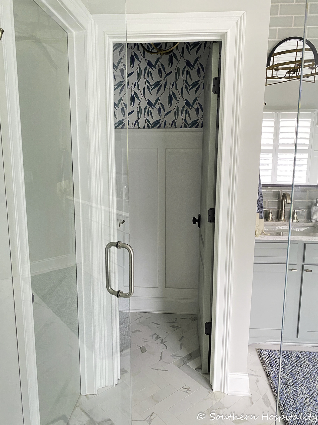 new traditional master bathroom renovation