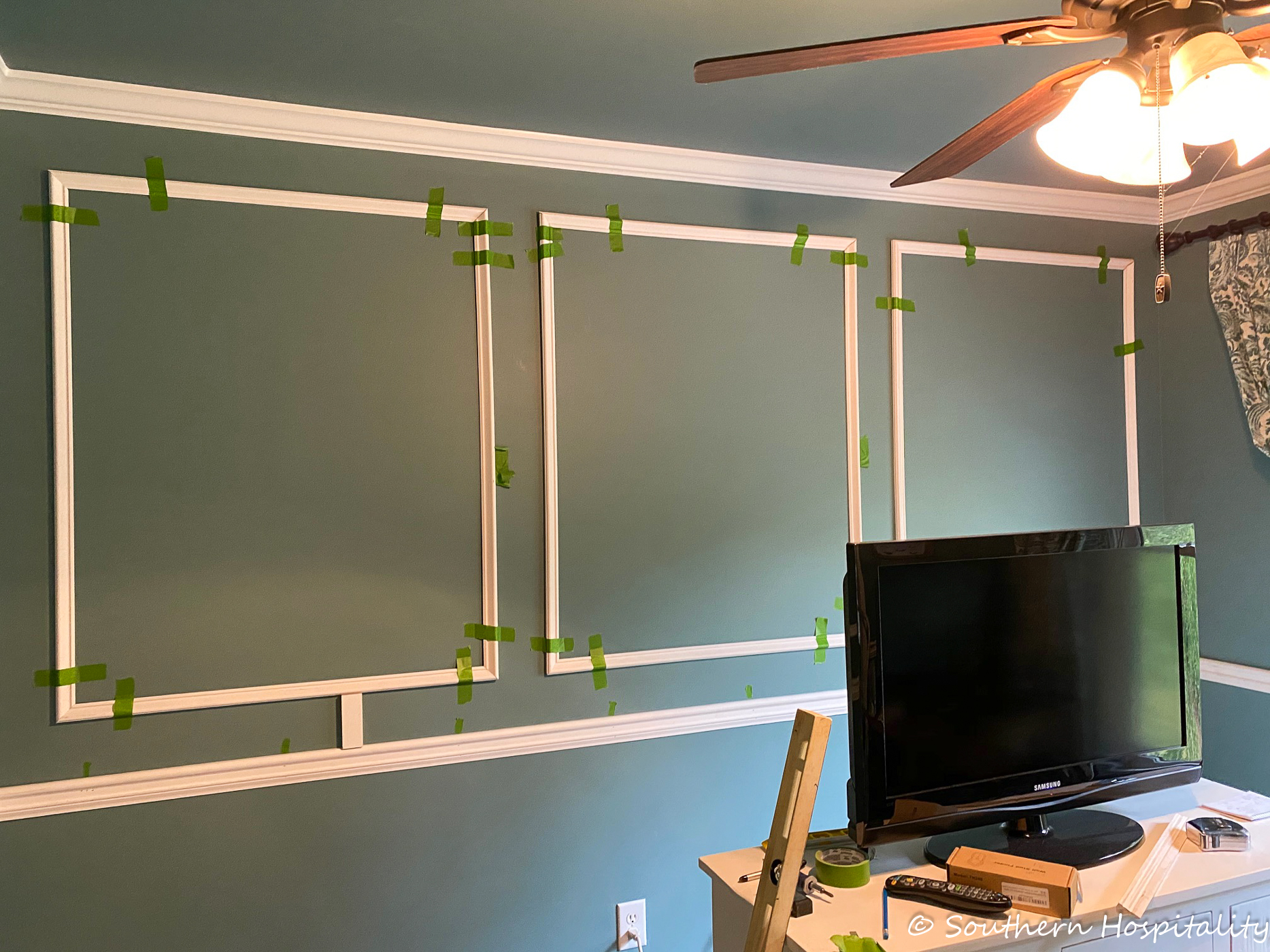 How to add picture frame molding to a room