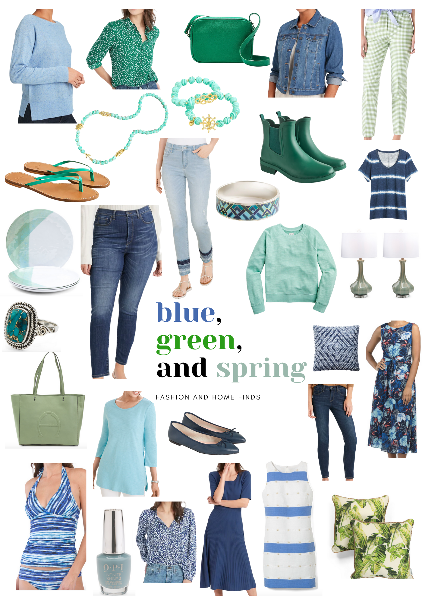 Fashion over 50: Blue Green and Spring