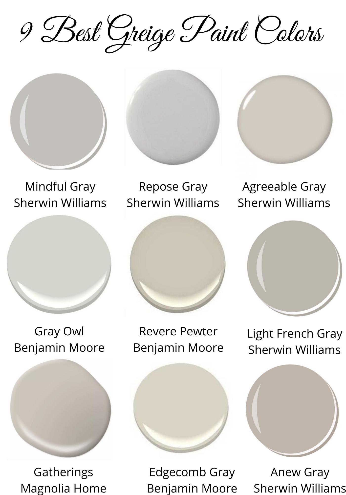 9 Favorite Greige Paint Colors